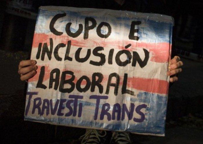 foto: Ya rige la ley de cupo laboral travesti trans