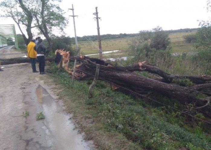 foto: El temporal provocó varios inconvenientes en algunas localidades del interior de Corrientes