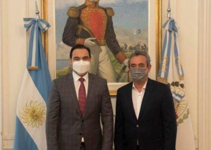 foto: Gustavo Valdés en Rosario se reunió con el intendente Pablo Javkin
