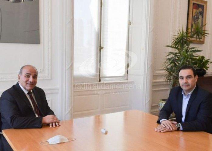 foto: Valdés se reunió con Juan Manzur en Casa Rosada