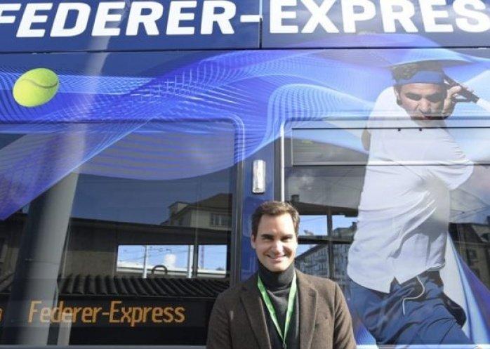 foto: Bienvenidos al Fedexpress: Roger Federer tiene su propio tranvía